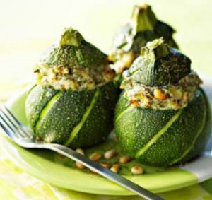 Native Thyme Stuffed Zucchini with Saltbush and Pepperberry